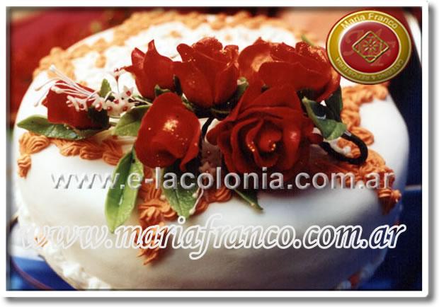 Torta de Bodas Rosas Rojas