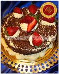 Torta de Crema, Frutilla y dulce de Leche - Maria Franco - Servicios de lunch, Catering & Reposteria