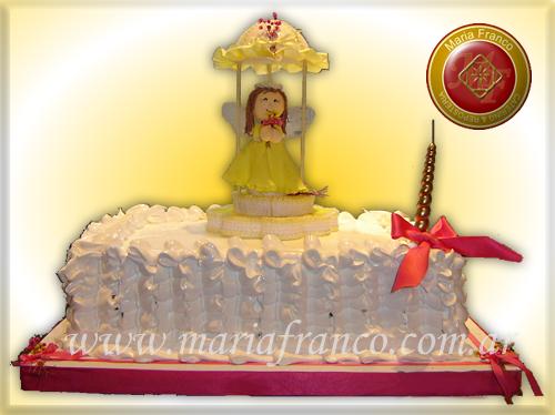 Torta De comunion o bautismo - Maria Franco