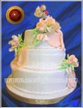 Torta de Bodas, decorada integramente en azúcar - Repostería Artística - Pastelería Artesanal - Servicios de Lunch a tu medida - chocolateria - Huevos de Pascua - Sandwich de miga