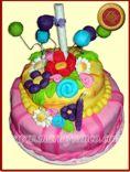 Torta Primavera - Tortas Artesanales, Pasteleria Artistica, Servicio de Lunch, Respostería, Chocolatería, especialidad en huevos de pascua y Sanwich de miga - www.mariafranco.com