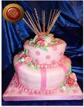 Torta a lunares Rosa - Pastelería Artistica, Resposteria Artesanal, Servicio de Lunch, especialidad en Sandwich de Miga, Chocolatería, huevos de Pascua, Regalos empresarios