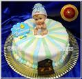Torta de Bautismo con bebe Repostería Artesanal, Pastelería Artistica, Chocolatería, Servicio de Lunch