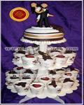 Torta de Bodas con cupcakes personalizados, diseños originales y exclusivos - Especialidad en tortas decoradas - Pasteleria Artesanal - Repostería Artistica - Servicio de Lunch - Catering - Chocolatería - Regalos Empresarios - Sandwich de miga